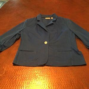 Blue Chico's blazer, size 2